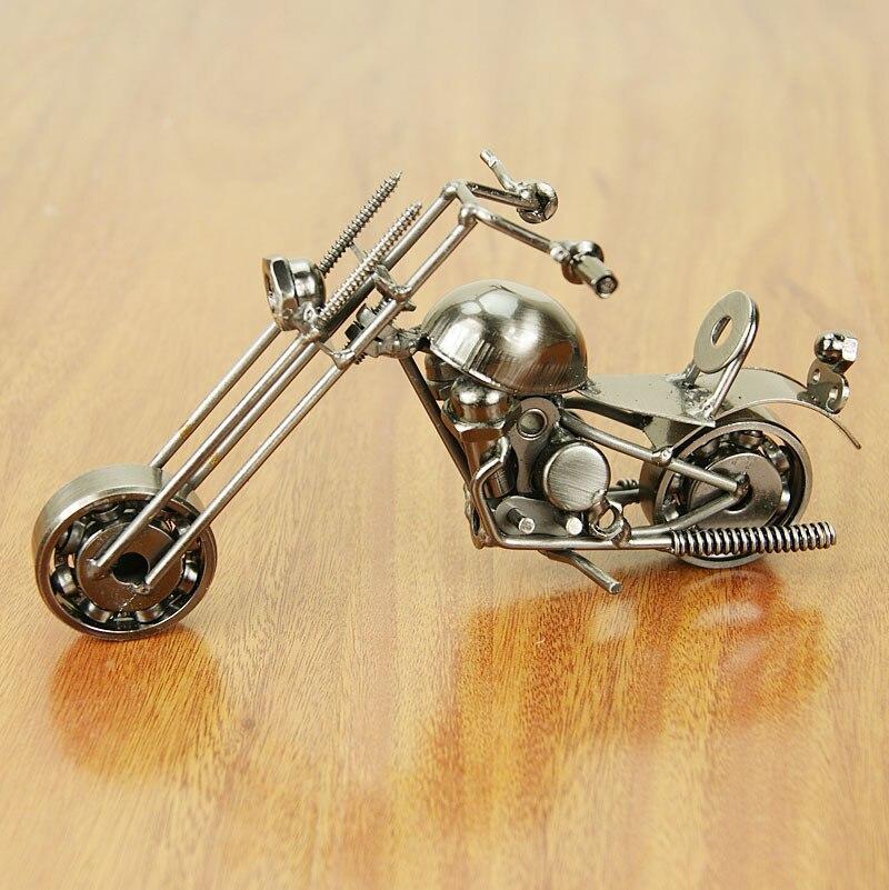 DIY Metal Motorbike Model Iron Motorcycle Crafts 3D Motor Table ...
