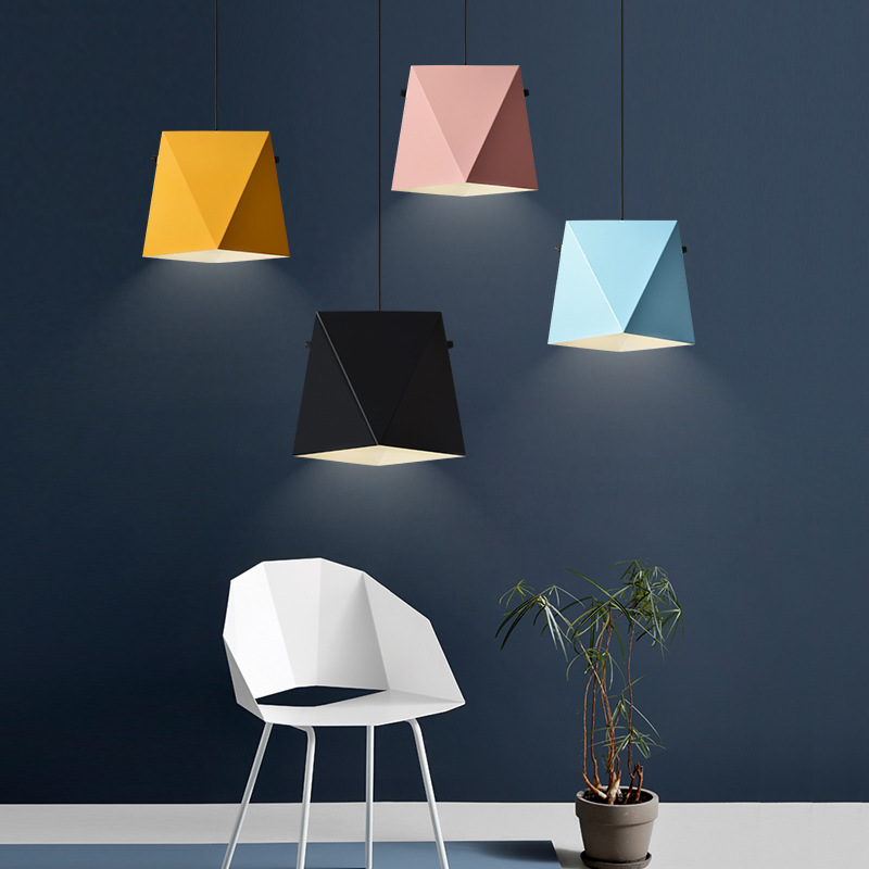 Single Head Nordic Restaurant Chandelier Modern Simple Study Lamp Creative Bar Light Cafe Macaron Decoration Lamps Free Shipping zx modern round acryl pendant lamp simple restaurant led chip droplight single head study bar shop office lamp free shipping