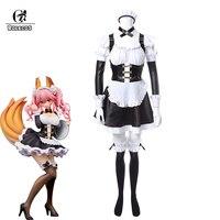 ROLECOS Fate Grand Order Cosplay Costume Tamamo No Mae Cosplay Costume Maid Dress Fate EXTRA FGO