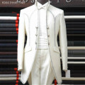 Free shipping Free custom made   Fashion wedding groom wear White Ivory 2 colour