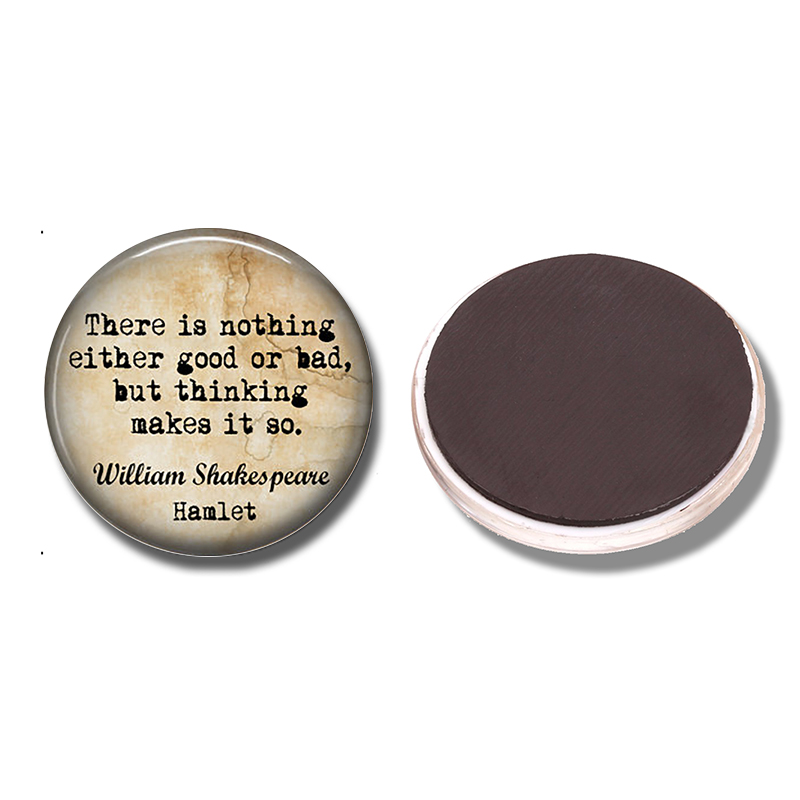 There Is Nothing Either Good or Bad Fridge Magnet Shakespeare Quote Glass Magnetic Refrigerator Stickers Note Holder Home Decor image