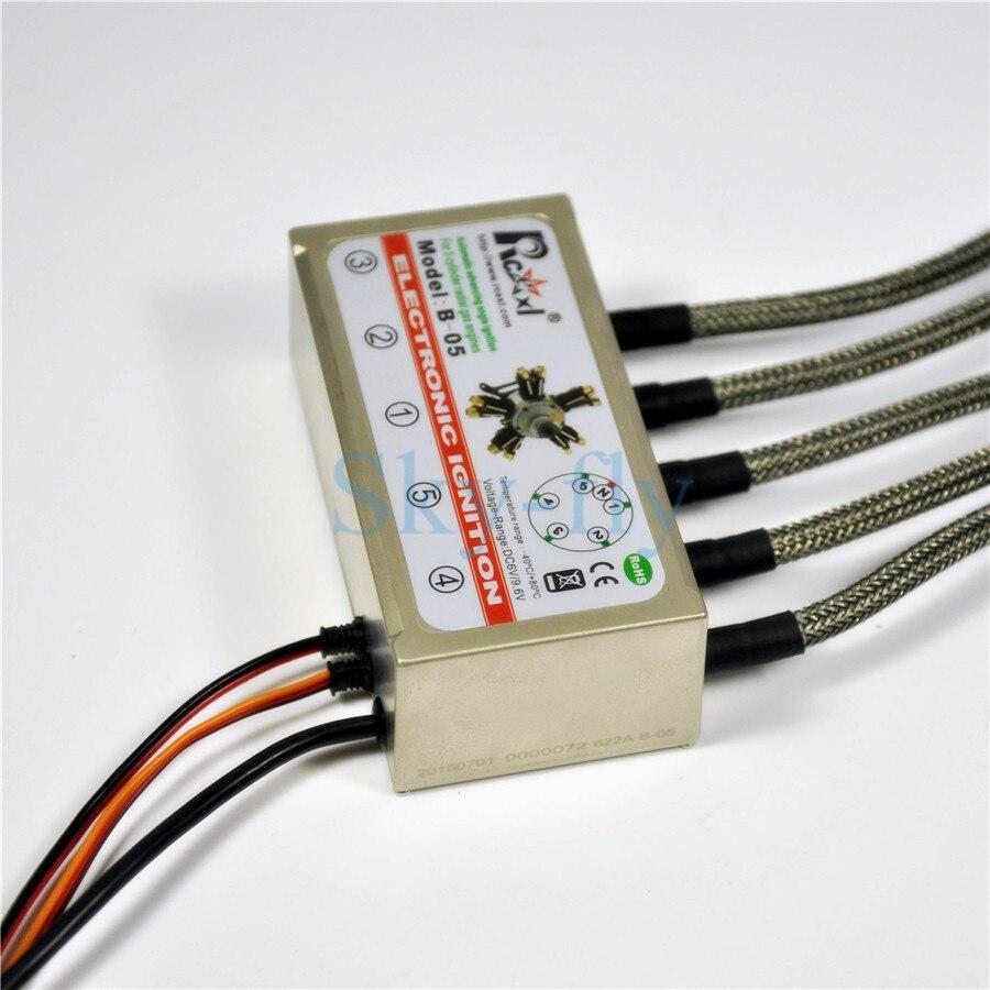 Rcexl 5 Cylinder RADIAL ENGINE Ignition For NGK CM6 10MM 120 Degree With Hall Sensor Bracket rcexl lv type twin ignition for ngk cm6 10mm 90 degree a 02 6v 12v 622a