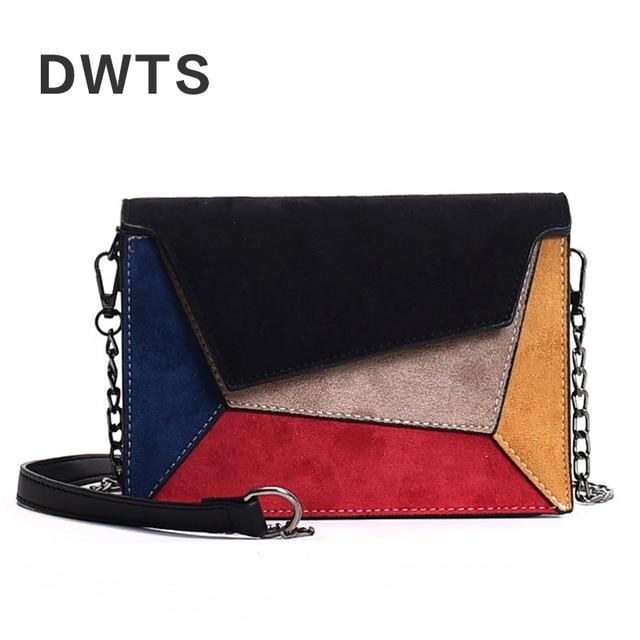 Fashion Quality Leather Patchwork Messenger Bag Women  Female Chain Strap Shoulder Bag Small Criss-Cross Ladies' Flap Bags Women