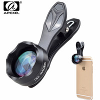 18X Macro Lens APEXEL Universal Super Macro Clip On Cell Phone Camera Lenses For IPhone 7