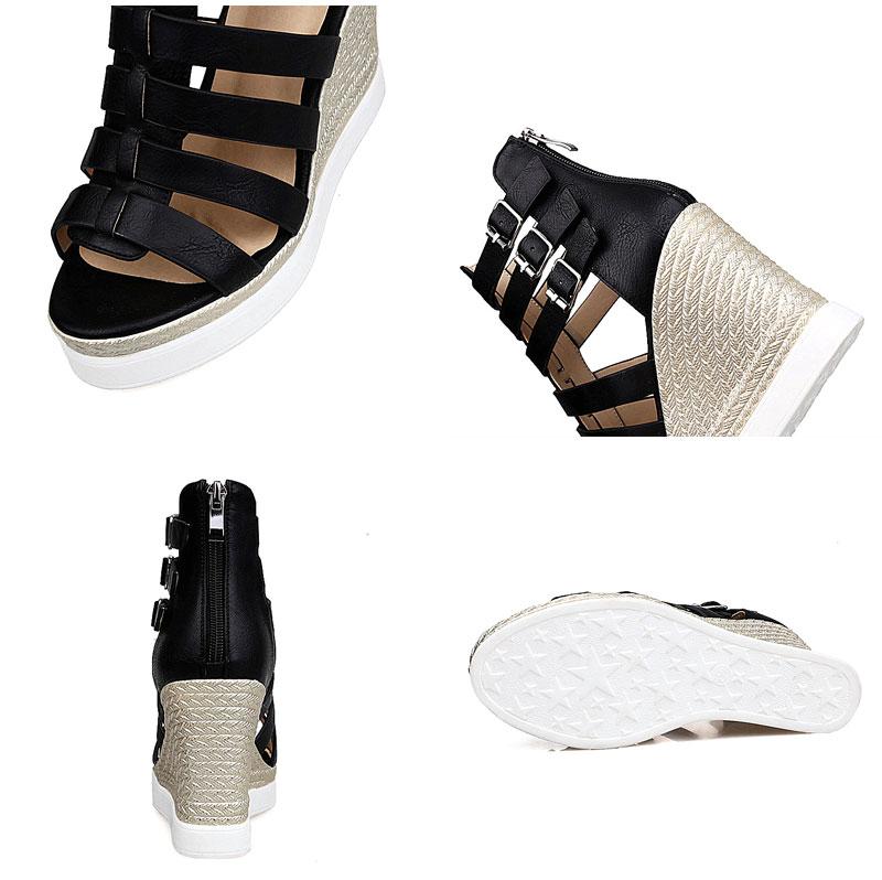 Gladiator Shoes, Women's Platform Wedges, High Heel Sandals, Rome Ladies Wedge Heels 22