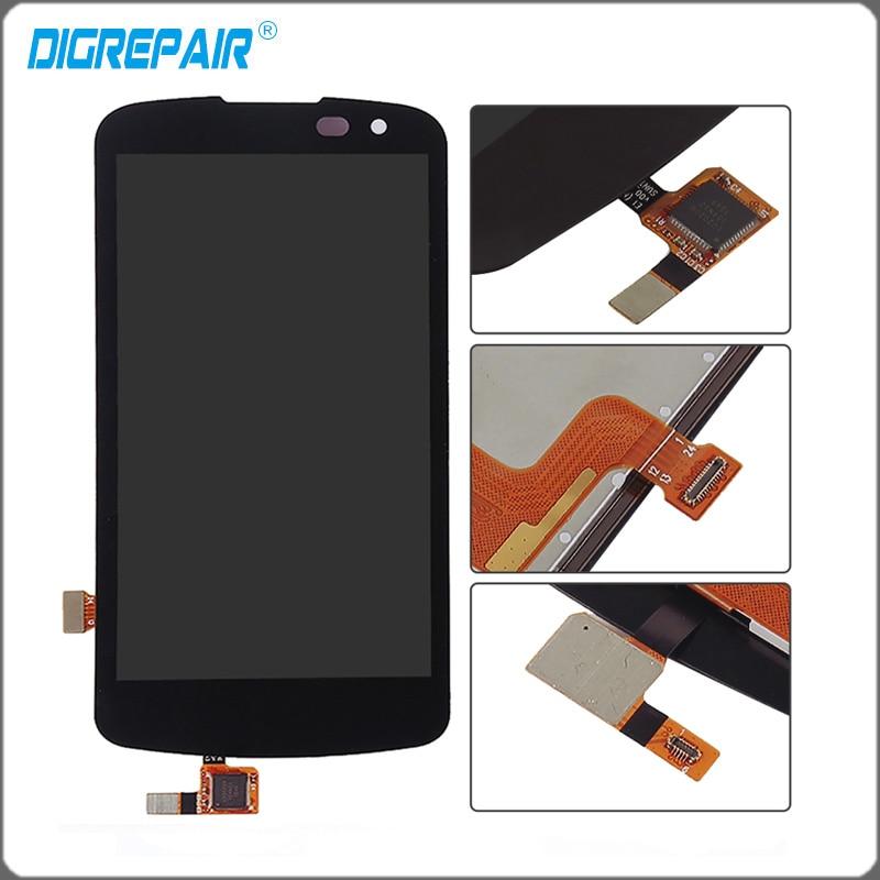 """imágenes para 4.5 """"negro Para LG K3 2016 K120 K100 LS450 LCD Pantalla Táctil con Digitalizador Asamblea Completo Libre del envío + Tracking No"""