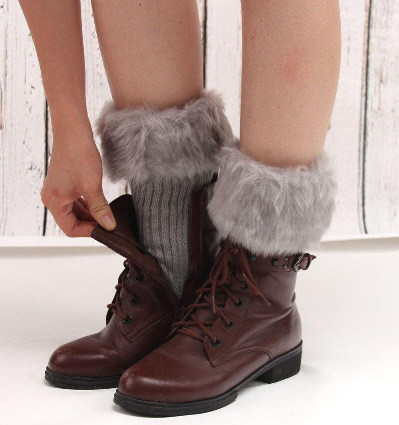 Faroonee New 2017 Autumn Knit Leg Warmers Women Ladies Winter Faux Fur Crochet Leg Warmers Cuffs Toppers Short Liner Boot Socks Women's Socks & Hosiery