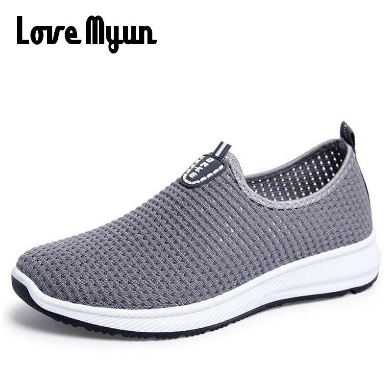 2018 moda traspirante uomini di estate fannulloni scarpe appartamenti casual leggeri Air mesh scarpa da tennis zapatillas deportivas scarpe MMWD-37