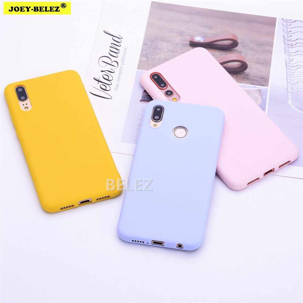 Candy Kleur Soft TPU Telefoon Case Voor Huawei Y9 Prime 2019 Y5 Y6 Y7 2018 Mate 20 Pro op Honor 10 10i 8C 8X9 Lite P Smart Z Cover
