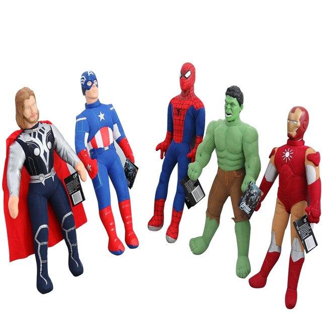 Super Hero Мстители игрушки Капитан Америка Гражданской Войны Железный Человек Халк плюшевые игрушки для детей детские игрушки