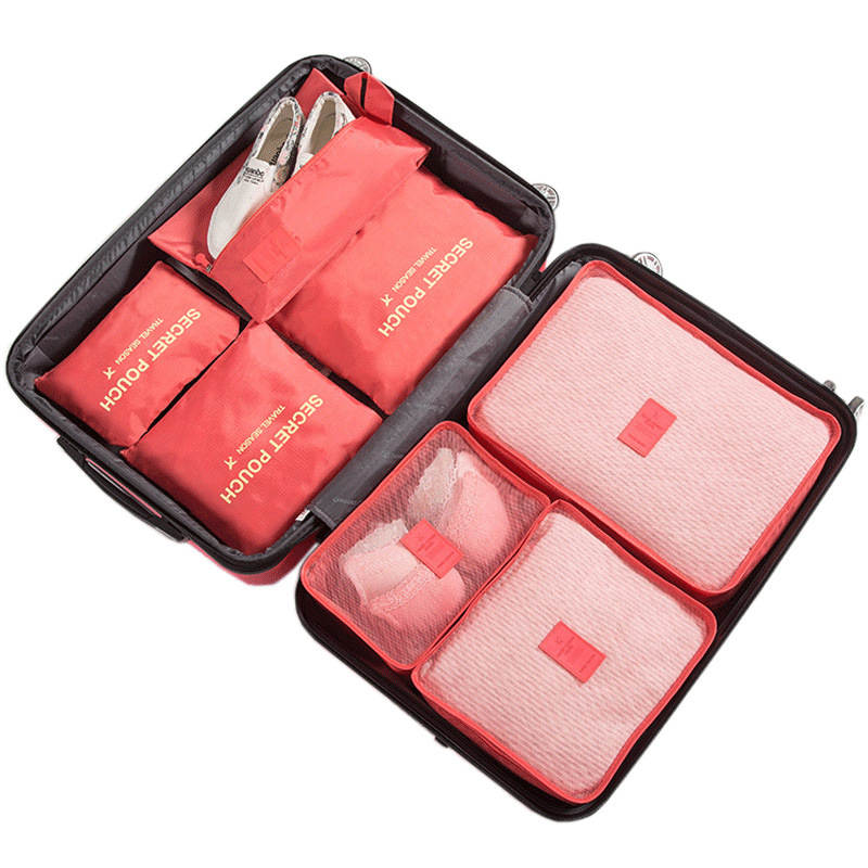 Image 3 - RUPUTIN 7Pcs/set Trip Luggage Organizer Clothes Finishing Kit Storage Bag Cosmetic toiletrie Storage Bag Home Travel Accessories-in Travel Accessories from Luggage & Bags