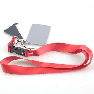 Image 5 - 3 Trong 1 Túi Kích Thước Kỹ Thuật Số Trắng Đen Xám Cân Bằng Thẻ 18% Xám Thẻ Có Dây Đeo Cổ Cho Kỹ Thuật Số chụp Ảnh