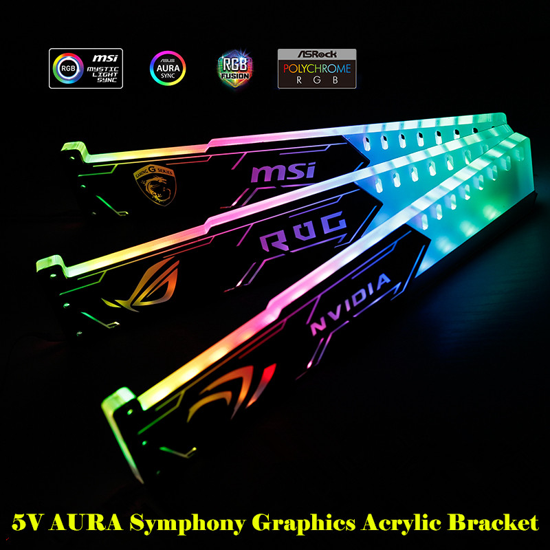 Avoid Deformation Of The Graphics Card Partner Light 5V Aura Acrylic Support Using Gpu Light Rgb Switchable