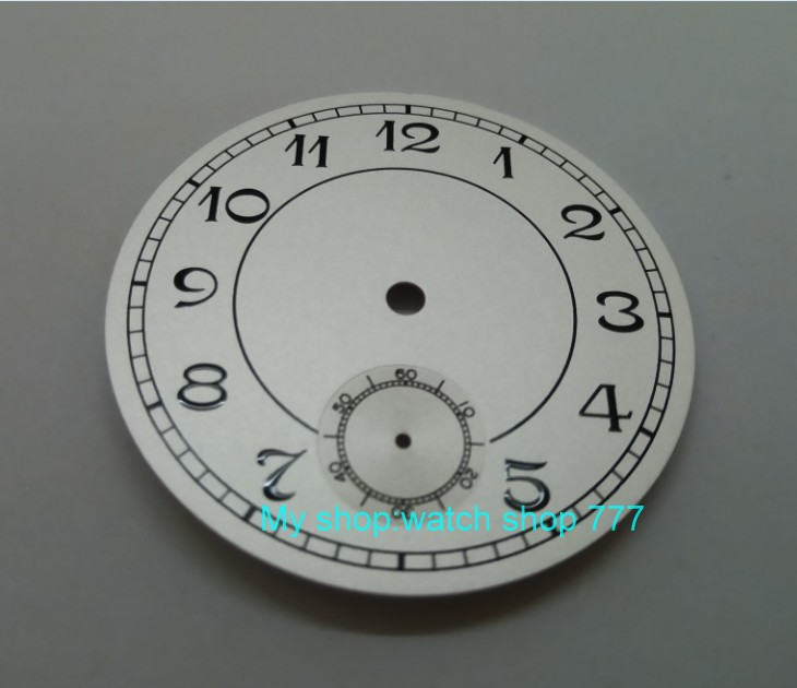 5efe1331b8a 38.9mm Número GEERVO moda estéril mostrador branco fit 6498 mostrador do  relógio dos homens do