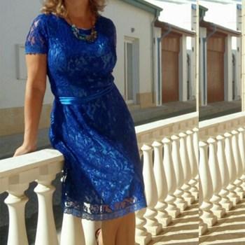Summer Women Dress Plus Size 6XL Lace Elegant Lady Dress Short Sleeve Casual Fashion Lace Up Vestidos Large Size Party Dress 2