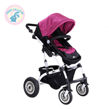 Russia free shipping baby stroller High landscape car umbrella folding baby trolley suspension double stroller