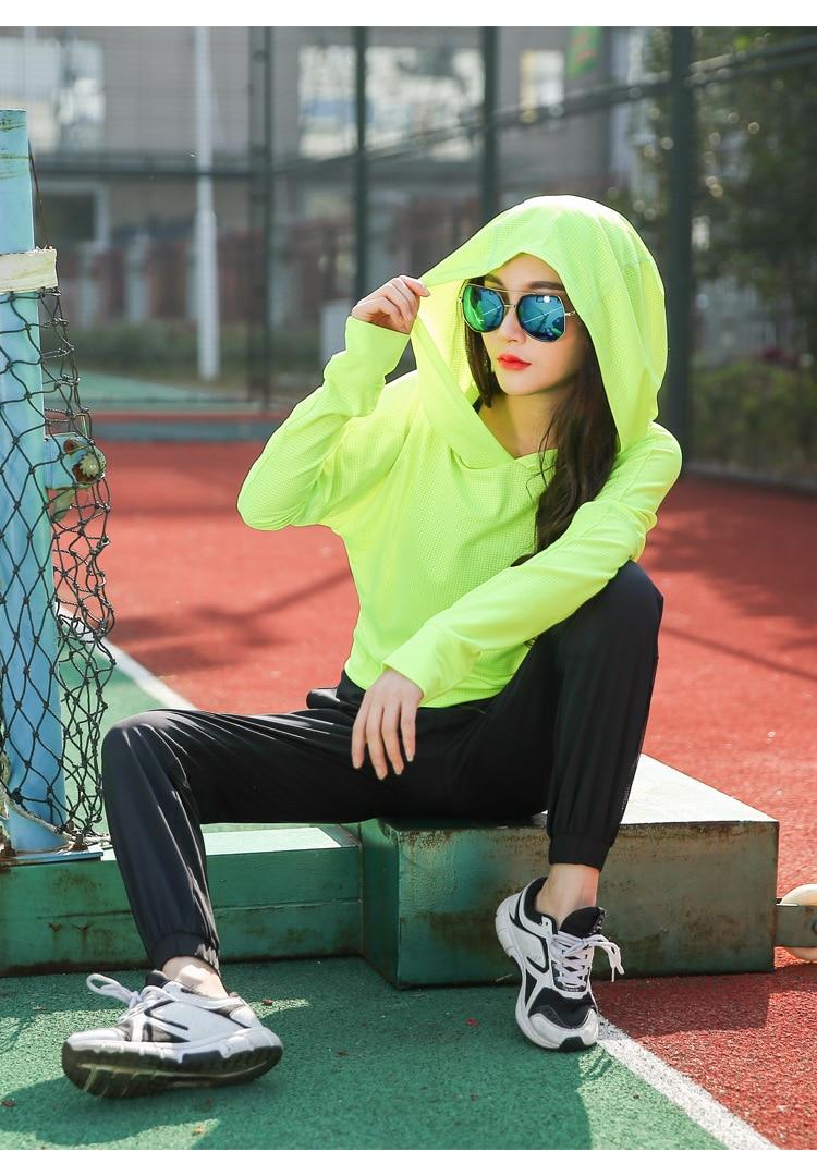 New Arrival Kobiety Czarny Gym Fitness Joga Koszule Compression - Ubrania sportowe i akcesoria - Zdjęcie 5