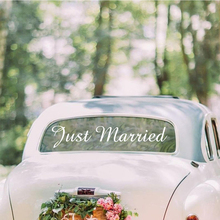 Free Shipping Just Married Removable Wall Stickers Diy Wallpaper For Wedding Car Vinyl Mural Wedding Room Decor Wall Decal стоимость
