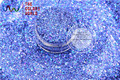 HA2042-303 Laser Holographic Royal Blue  Color Hexagon Shape  Glitter Sequins for nail art  DIY  and Holiday decoration
