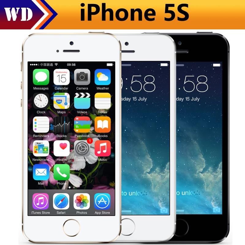 """Цена за Apple iphone 5s оригинальные сотовые телефоны dual core 4 """"IPS Используется Телефон 8MP 1080 P Смартфон GPS IOS iPhone5s Открыл Мобильный Телефон"""