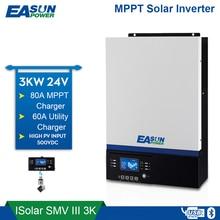EASUN güç Bluetooth invertör 3000W 500Vdc PV 230Vac 24Vdc 80A MPPT güneş şarjı mobil izleme USB LCD kontrol