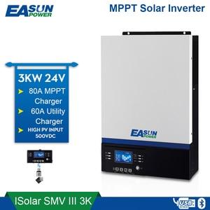 Image 1 - EASUN güç Bluetooth invertör 3000W 500Vdc PV 230Vac 24Vdc 80A MPPT güneş şarjı mobil izleme USB LCD kontrol