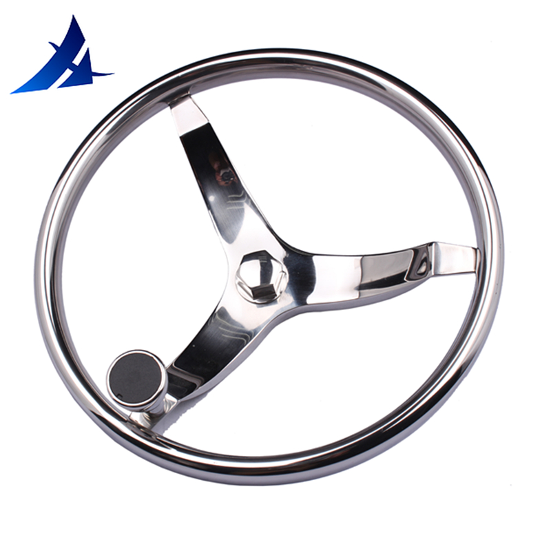 15 5 perfect 316 stainless steel boat steering wheel with Knob for marine boat yacht
