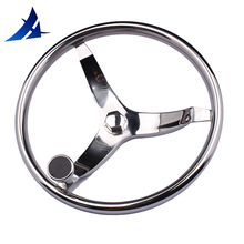 "Boat Accessories Marine 15.5"" perfect 316 stainless steel boat steering wheel with Knob for marine boat yacht"