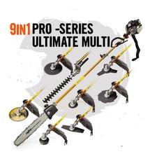 Professional 52CC 2-STROKES 9 in 1 Multi brush cutter grass trimmer,lawn mower,tree pruner,Bush Cutter Whipper Snipper