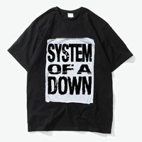 system of a dowm rage against the machine rock fashion patchwork good quality cotton t shirt