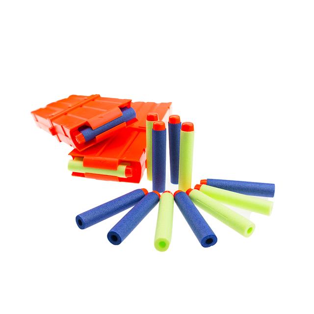 Nerf m4 pistola clip de plástico 2 unids y 100 unids bala juguetes parte pistola de regalo al por mayor