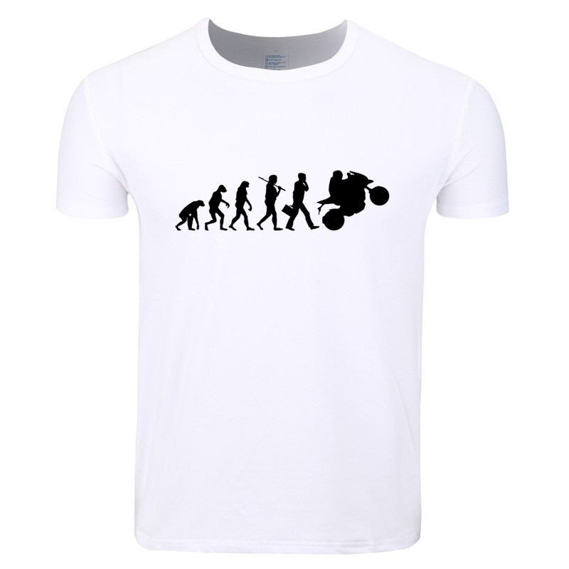 Asian Size Men Print Riding Motorbike Evolution Motorcycle T-shirt O-Neck Short Sleeve Summer Casual Homme T-shirt HCP4237
