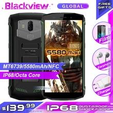 Blackview Bv5800 IP68 防水 5580mAh 4 グラム 18:9 スマートフォン 2 ギガバイト 16 ギガバイト 13MP NFC タッチ ID 携帯電話