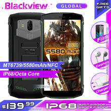 Blackview Bv5800 IP68 עמיד למים 5580mAh 4G 18:9 Smartphone 2GB 16GB 13MP NFC מגע מזהה נייד טלפון