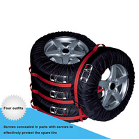 New 4Pcs Spare Tire Cover Case Polyester Car Tires Storage Bag Vehicle Wheel Protector Ship from Russia
