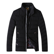NEW winter jacket men Cotton parkas MEN S DOWN JACKET fashion Solid color stripe Men s