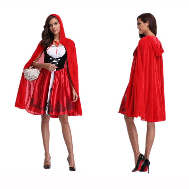 2018 Little Red Riding Hood Costume For Women Fancy Adult -8386