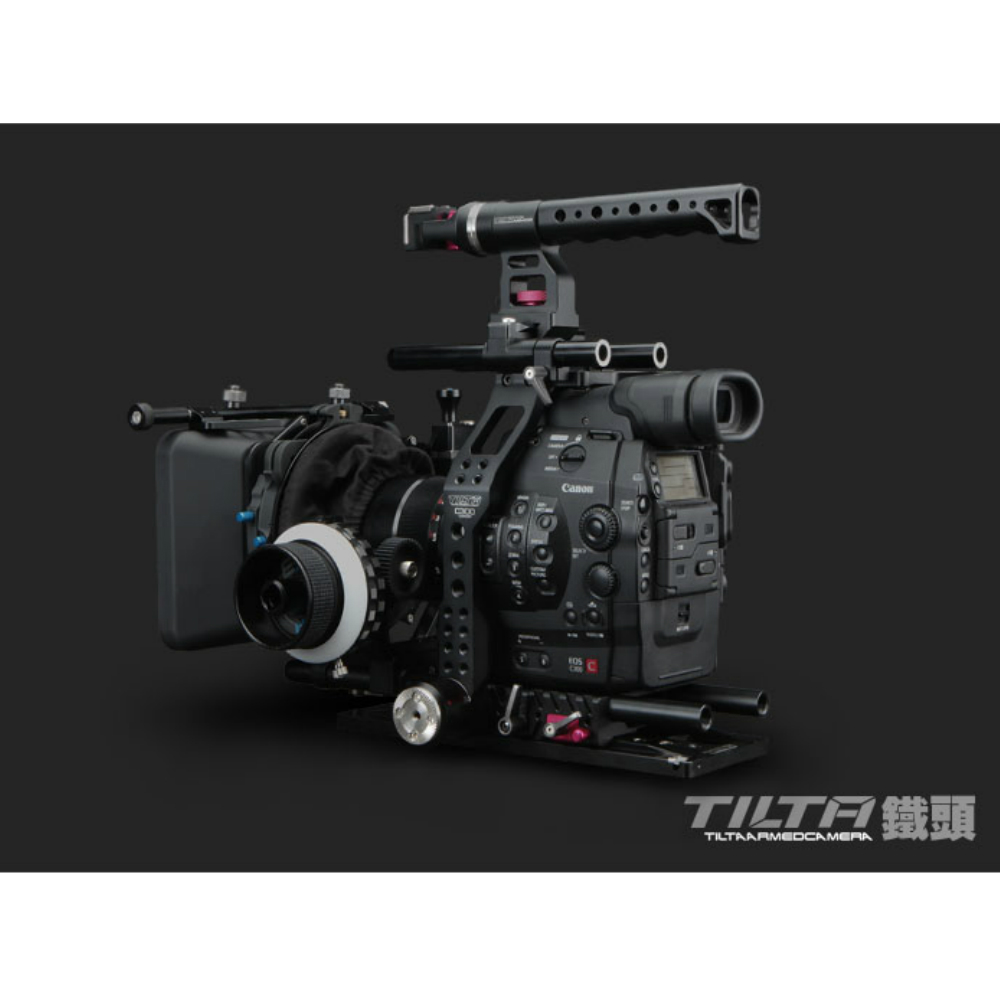 15 MM DSLR Cámara jaula plataforma Kit para Canon C300/C500 mango placa base jaula FF-T03 sigue el foco 4*4 caja mate de fibra de carbono