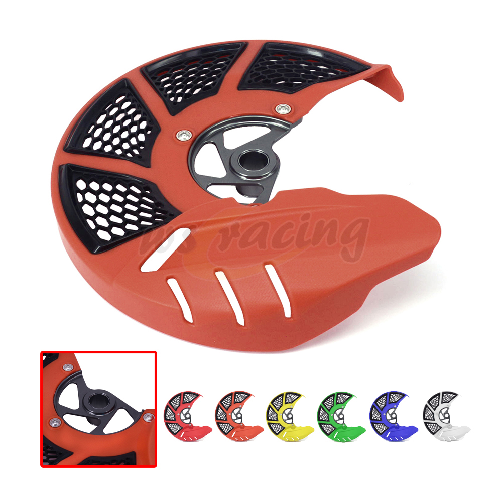 Front Brake Disc Rotor Guard Cover For KTM EXC125 EXC250 EXC300 EXC350 EXC400 EXC450 EXCF 125 200 250 300 350 450 - 530 03-15 motorcycle front rider seat leather cover for ktm 125 200 390 duke