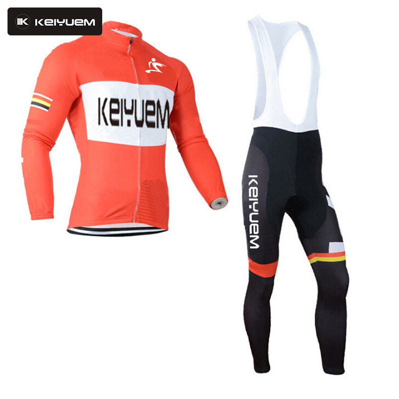 Winter Thermal Fleece Cycling Clothing Orange Wear Bike MTB Jerseys Cycling Sets Bib Pants 2016 Men's Cycling Jersey Sets 2016 new arrivals hot men s cube cycling thermal fleece jersey bib pants sets pro team mtb bicycle clothing bicicleta bike k0709