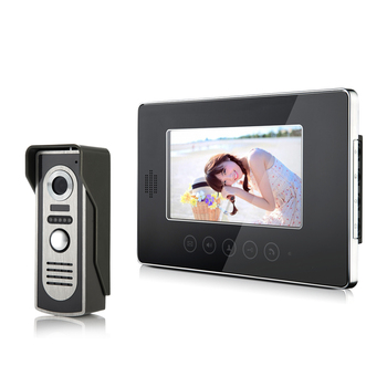 7inch touchpad panel monitor video doorphone V70T-M2 700tvl camera