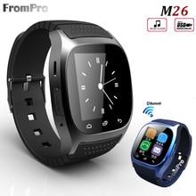 Smartwatch M26 2017 Bluetooth Смарт Часы с LED Дисплей/Циферблат/будильник/Музыкальный Плеер/Шагомер для смартфонов Android 1OS