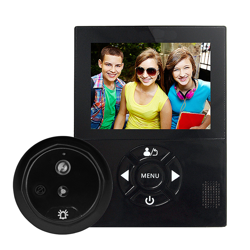 3.0 inch LCD Screen Color Digital Camera Doorbell Motion Detection Camera Night Vision Wide Angle Video Photo Record Doorbell hd villa type wired video doorbell 7 inch color camera screen night vision doorbell with memory card