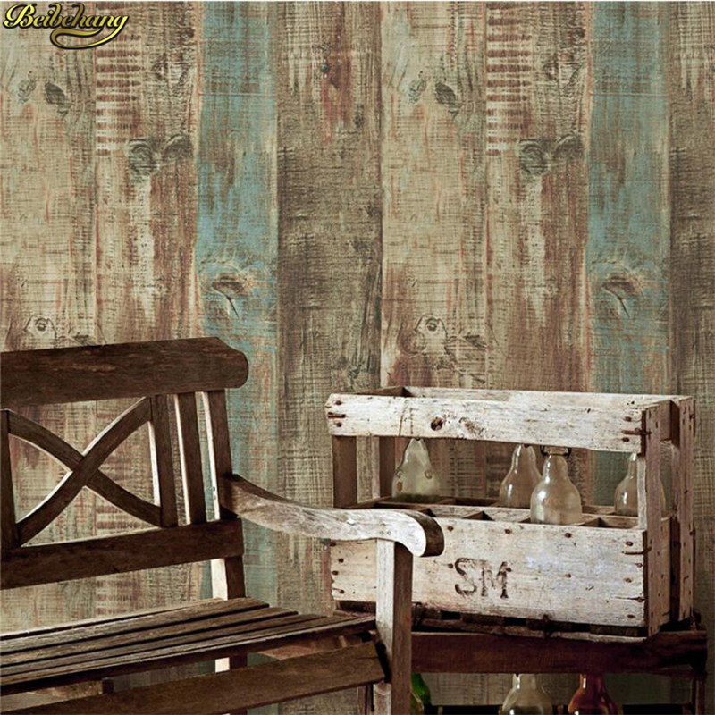 beibehang Nordic retro vintage old wood plank wallpaper bar cafe clothing store background papel de parede wall papers home deco beibehang papel de parede american retro wood to do the old wooden letters tower wallpaper bar cafe clothing personality striped