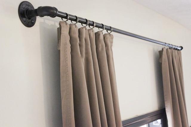 63 zoll schmiedeeisen wasser rohr handtuch gardinenstangen loft american. Black Bedroom Furniture Sets. Home Design Ideas