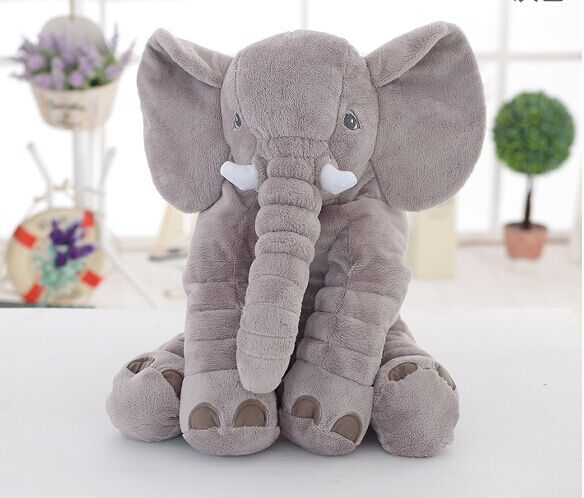 60cm High Quality Lovely Plush Elephant Toy, Plush Soft Toy Stuffed Animal Doll For Baby & Kids Sleeping Baby Calm Doll hot toys
