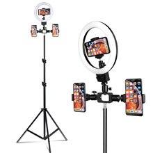 9 inch Mini LED Ring Light Portable Circular Lamp 80 Piece LED Bulbs 3200K/5500K USB Video Light for YouTube Photo Shooting цена и фото