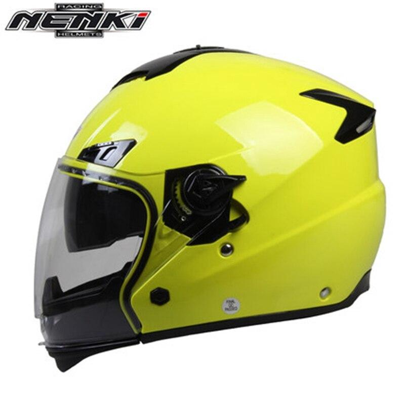 ФОТО Double lens Capacetes Motorcycle Helmet Full Face Motorbike Casque Nenki Brand OF850