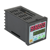 Multi functional Digital Counter Length Meter Intelligent Dual 4 Digits LED Display AC/DC Preset Electronic Length Counter