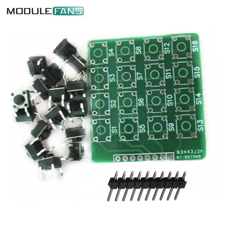 4X4 4X4 Matriks Tombol Keyboard Modul 16 Botton MCU UNTUK ARDUINO ATMEL S1/2 DIY kit Elektronik PCB Papan Modul